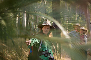 Australian Nature Guide Michelle Whitehouse leads a tour in Carnarvon Gorge.