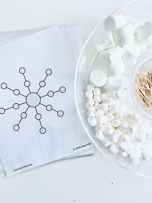 Marshmallow & Toothpick Snowflakes Templates