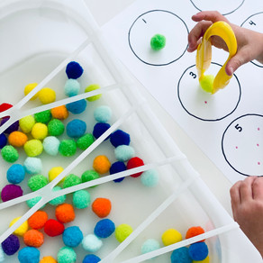 Counting + Fine Motor