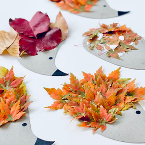 Hedgehog Leaf Art