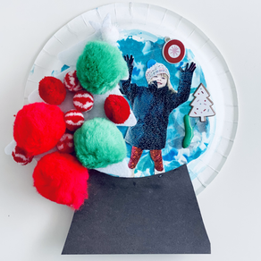 Paper Plate Snow Globes