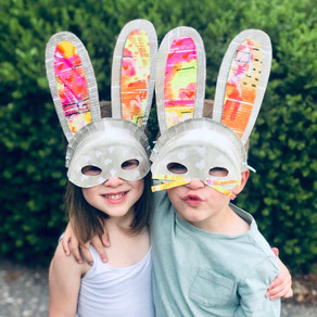 Paper Plate Bunny Mask