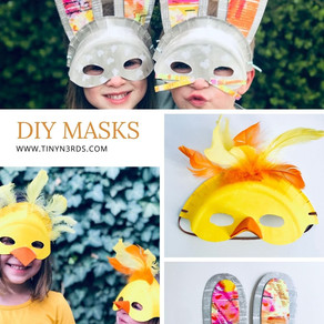 Paper Plate Bunny & Chick Mask