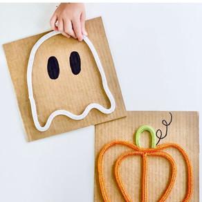 DIY Halloween Sensory Boards