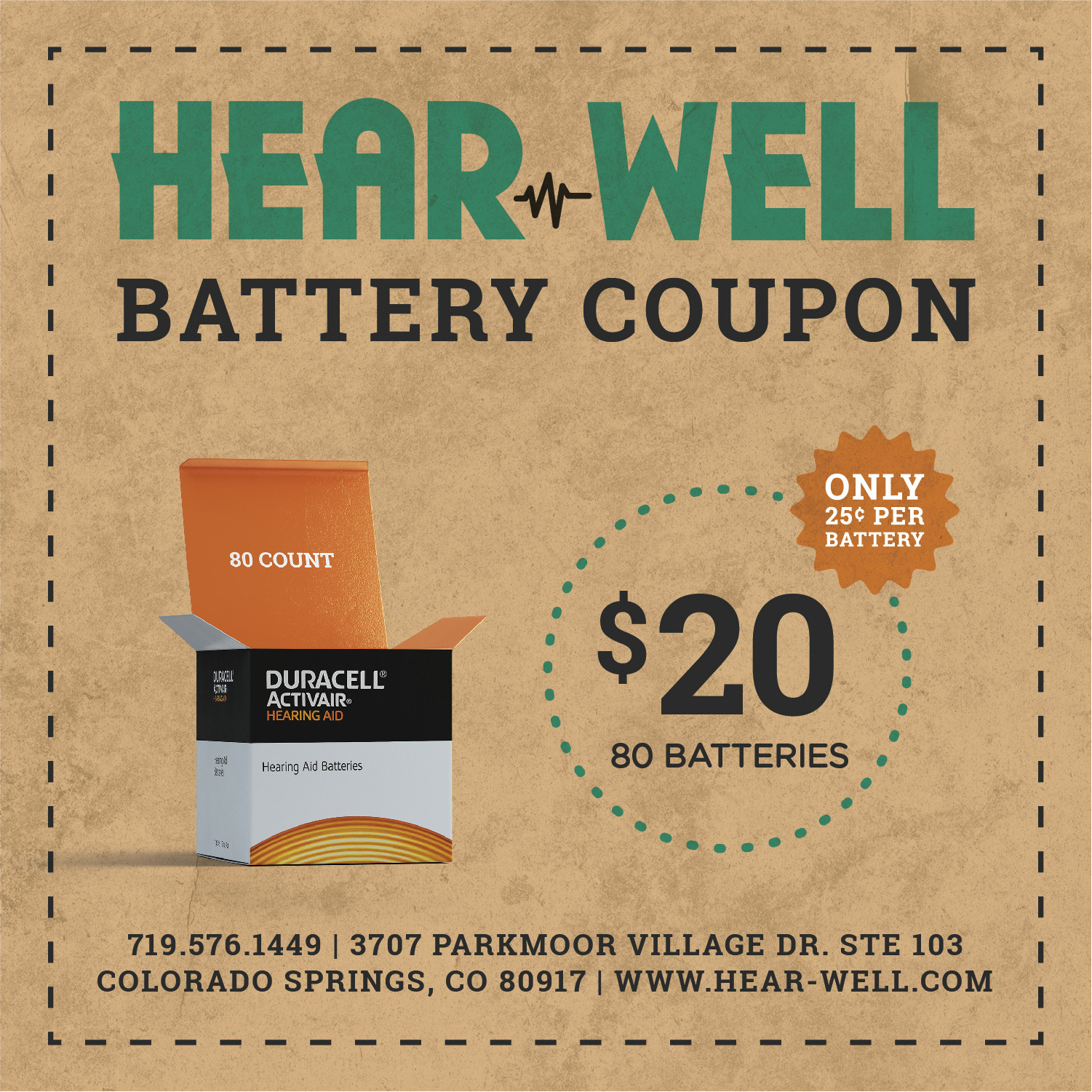 Hear-Well Battery Coupon