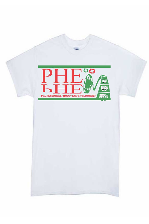 PHE Men's Crew T- Shirt- Green/Red Logo