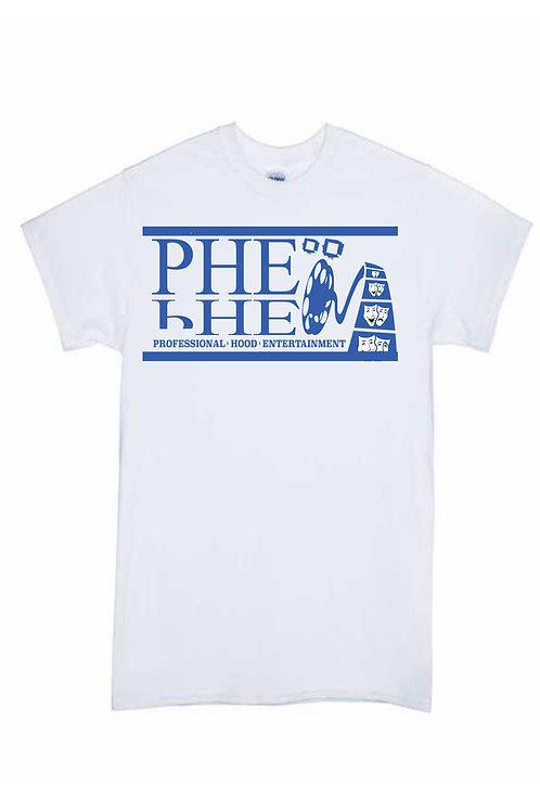 PHE Men's Crew Neck T-Shirt- Blue Logo