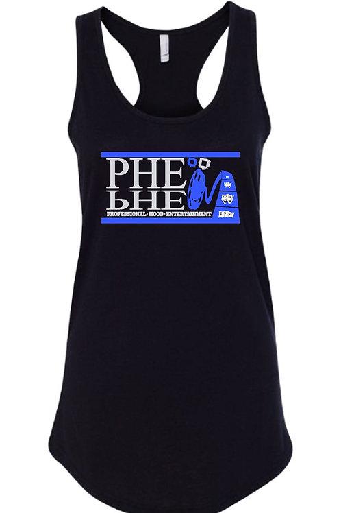 PHE Women's Spaghetti Strap Tank Top- Code Blue Edition