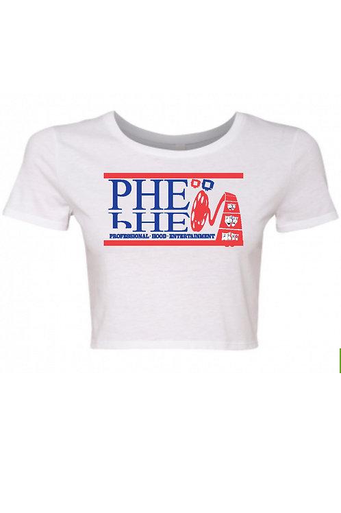 PHE U.S.A Women's Crop Top Tee