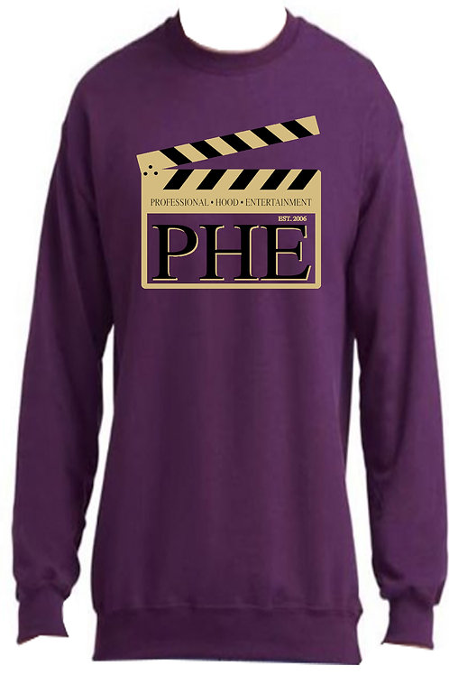 PHE Unisex Sweat Shirts Est. 2006 Style- Gold/Black Logo