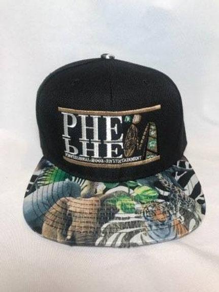 PHE Snap Back Hat-Jungle Print Brim