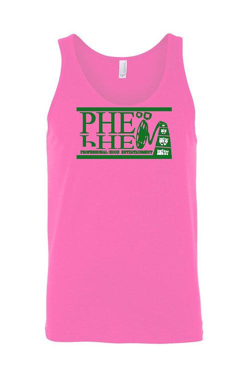 PHE Women's Tank Top- Green Logo