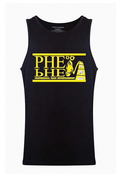PHE Men's Tank Top- Yellow Logo
