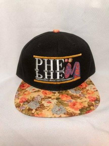 PHE Snap Back Hat Floral Brim 1