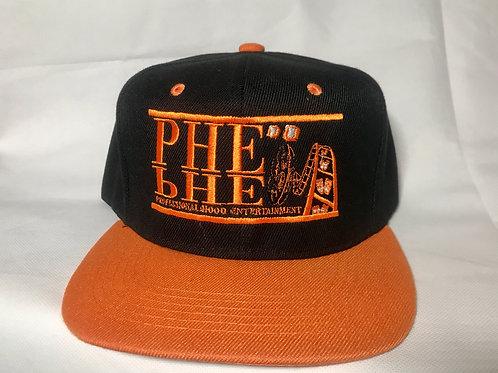 PHE Snap Back Hat- Orange Logo