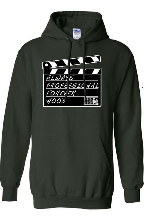 "PHE The ""Movement"" Series Forever Hood Hoodie- White logo"