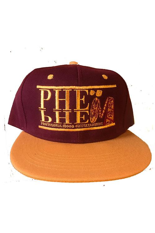 PHE Snap Back Hat- Gold Logo