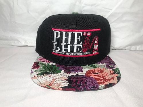 PHE Snap Back Hat Floral Brim 6