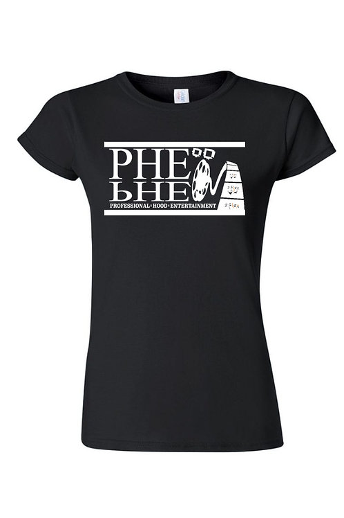 PHE Women's Crew Neck T-shirt- White Logo
