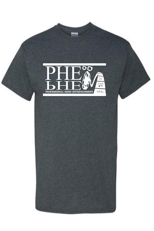 PHE Men's Crew Neck T-Shirts- White Logo