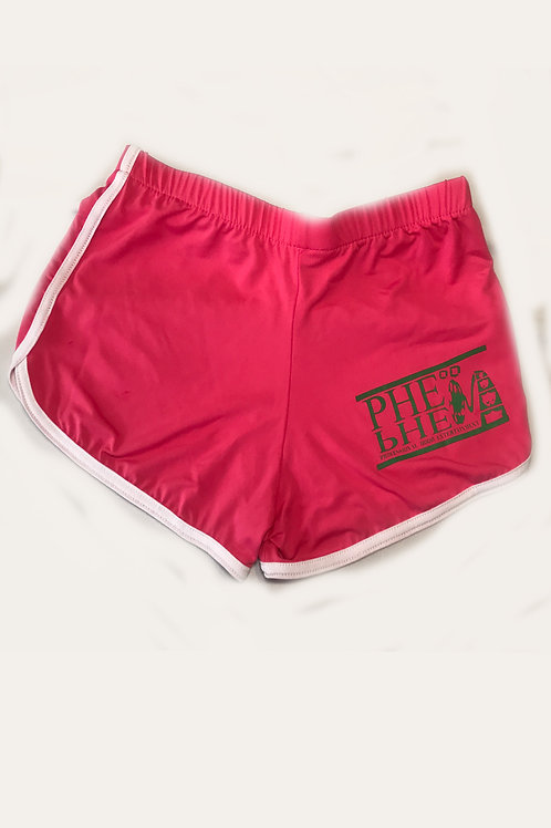 PHE Women's Stretch Casual Shorts - Green Logo