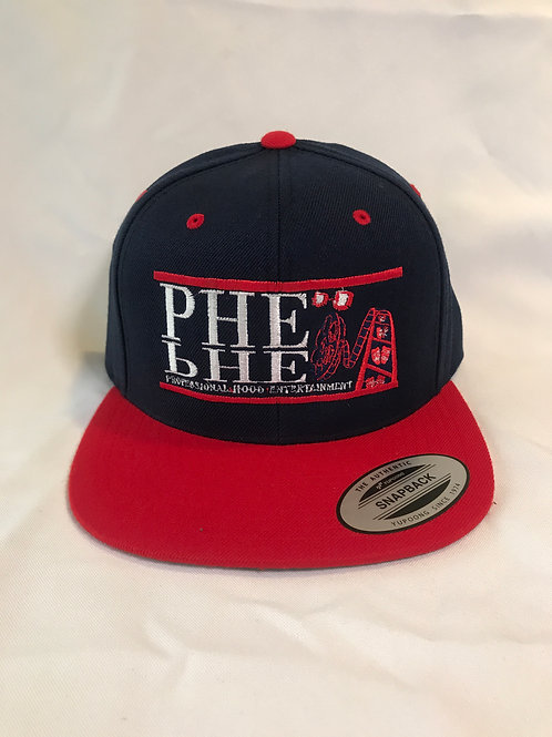 PHE Snap Back Hats- Red/White Logo