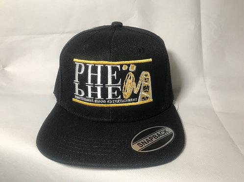 PHE Snap Back Hat Yellow-White Logo