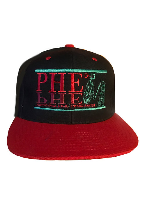 PHE Snap Back Hat Red/Blk/Green Logo