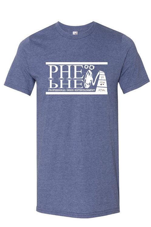 PHE Men's Crew Neck T-Shirt- White Logo