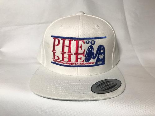 PHE Snap Back Hat- Blue/Red Logo