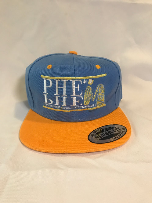 PHE Snap Back Hat- Gold/White Logo