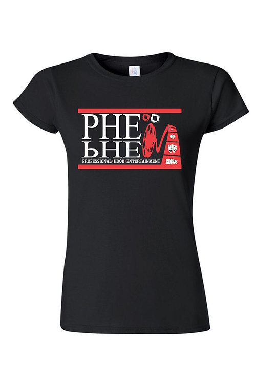PHE Women's Crew Neck T-shirt Red/White Logo