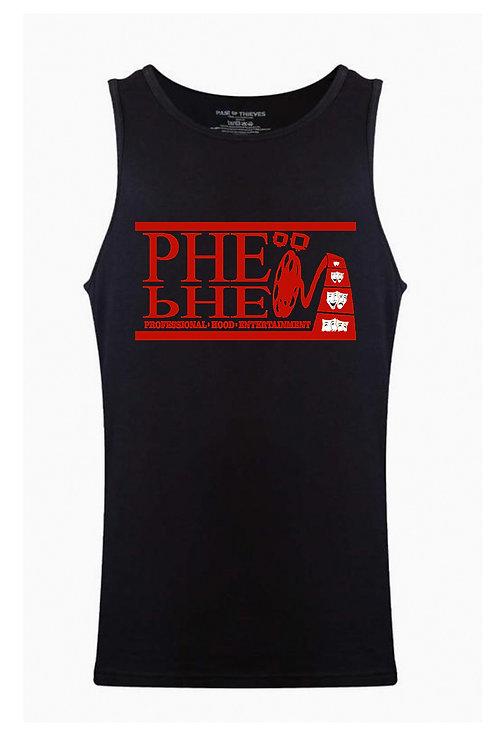 PHE Men's Tank Top- Red Logo