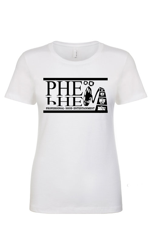 PHE Women's Crew Neck T-shirt- Black Logo