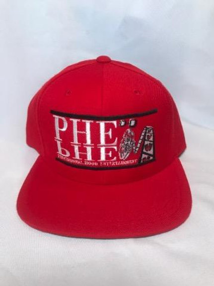 PHE Snap Back Hat- Black/White Logo