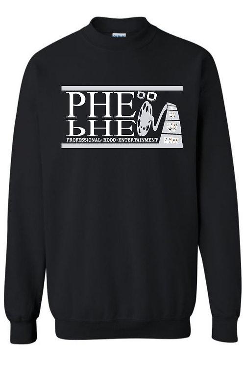 PHE Unisex Sweat Shirt- Silver/White Logo