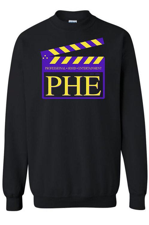 PHE Unisex Sweat Shirts Est. 2006 Style- Purple/Yellow Logo
