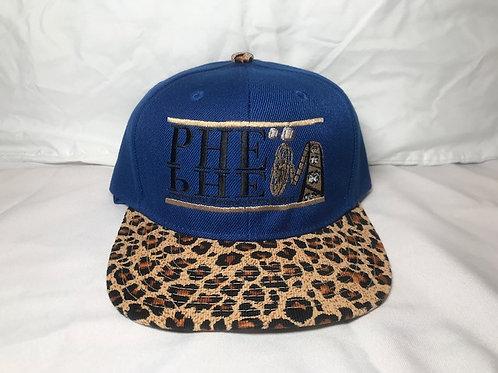 PHE Snap Back Hat Cheetah Brim