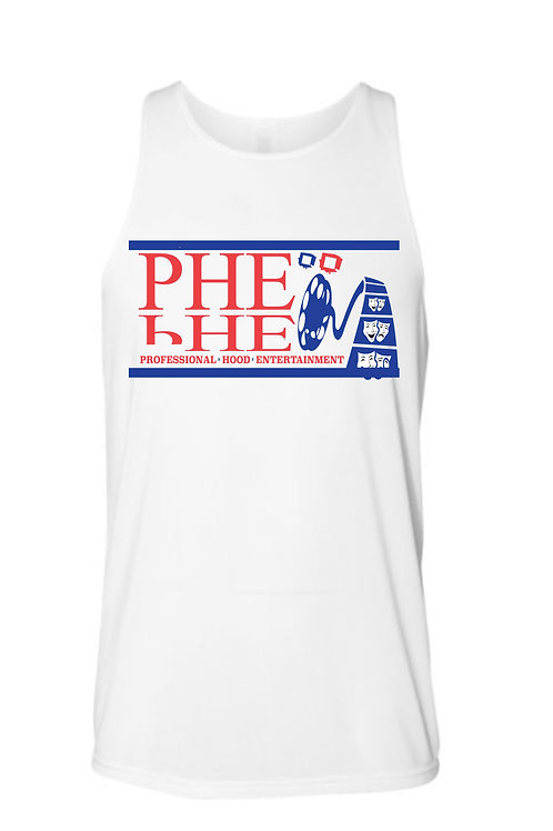 PHE Unisex Tank Top- Blue/Red Logo