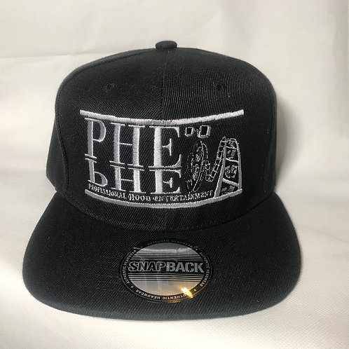 PHE Snap Back Hat Grey Logo