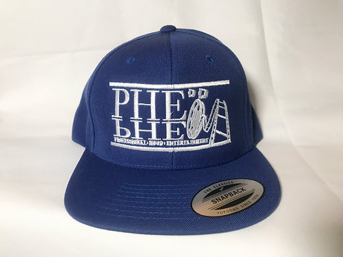 PHE Snap Back Hat White Logo