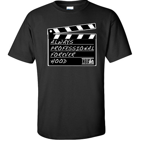 """PHE """"The Movement Series"""" Men Crew Neck Forever Hood T-Shirt- White Logo"""