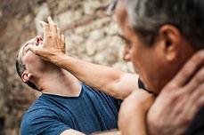 Kapap instructor demonstrates street fig