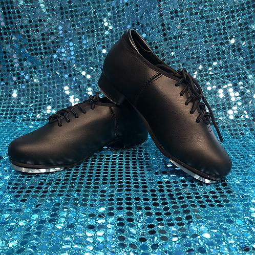 Black Lace-Up Tap Shoes