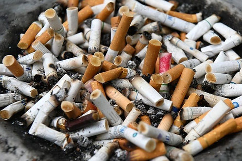 My used cigarette butts