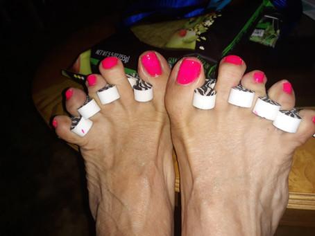 Hot Pink Toenails!