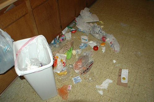 Mykitchen floor trash.... you get what's in it that day