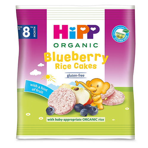 HiPP Organic Blueberry Rice Cakes 30g