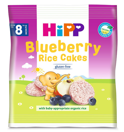 Short Expiry - HiPP Organic Blueberry Rice Cakes 30g