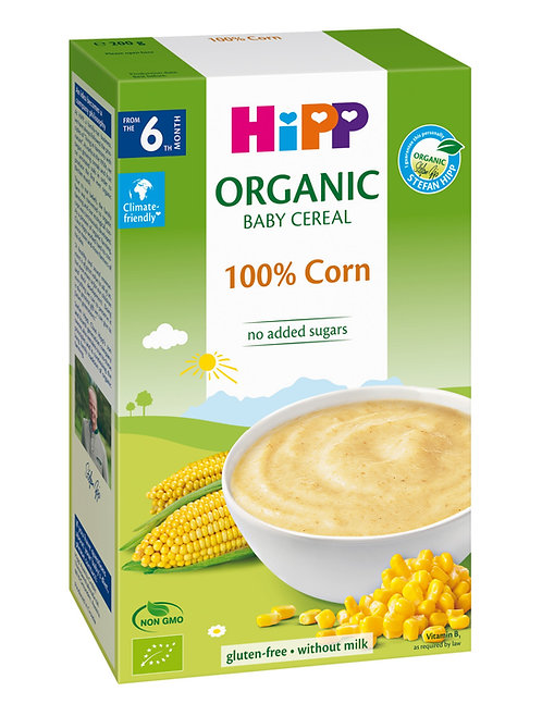 Organic Cereal Pap 100% Corn 250g
